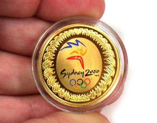 RARE COLLECTORS 2000 OLYMPIC GOLD COIN SET  gold coin , Olympic gold coin ,first coloured coin in australia