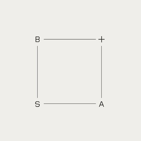 Contemporary monogram for architecture firm Barale + Sinibaldi.