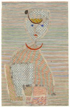 paul klee, errand boy- 1934 watercolour, gouache and pencil on paper