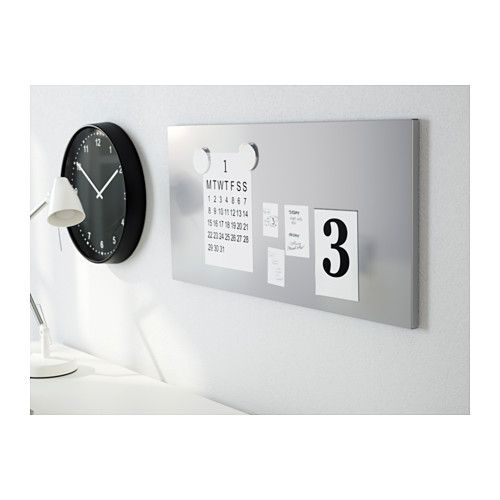 Magnetic board-- can put these containers on it for kitchen office storage  http://www.ikea.com/us/en/catalog/products/80102919/