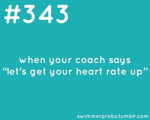 So you hold your breath for the whole last 50, making it seem like you are out of breath. Then lie about your heart rate