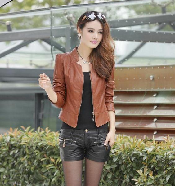 Women Brand Faux Soft Leather Jackets Pu Black Blazer Zippers Long Sleeve Motorcycle Coat #sheerbliss #bestoftheday  #leatherjacket #leather #handemade #leathercraft #fashion