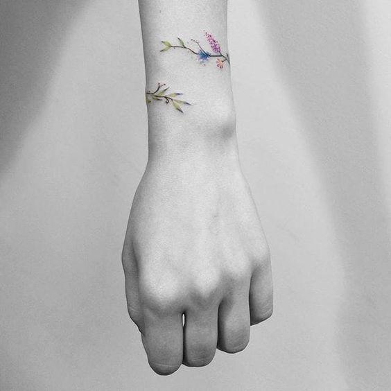 Never Take it Off: Stunning Floral Bracelet Tattoos