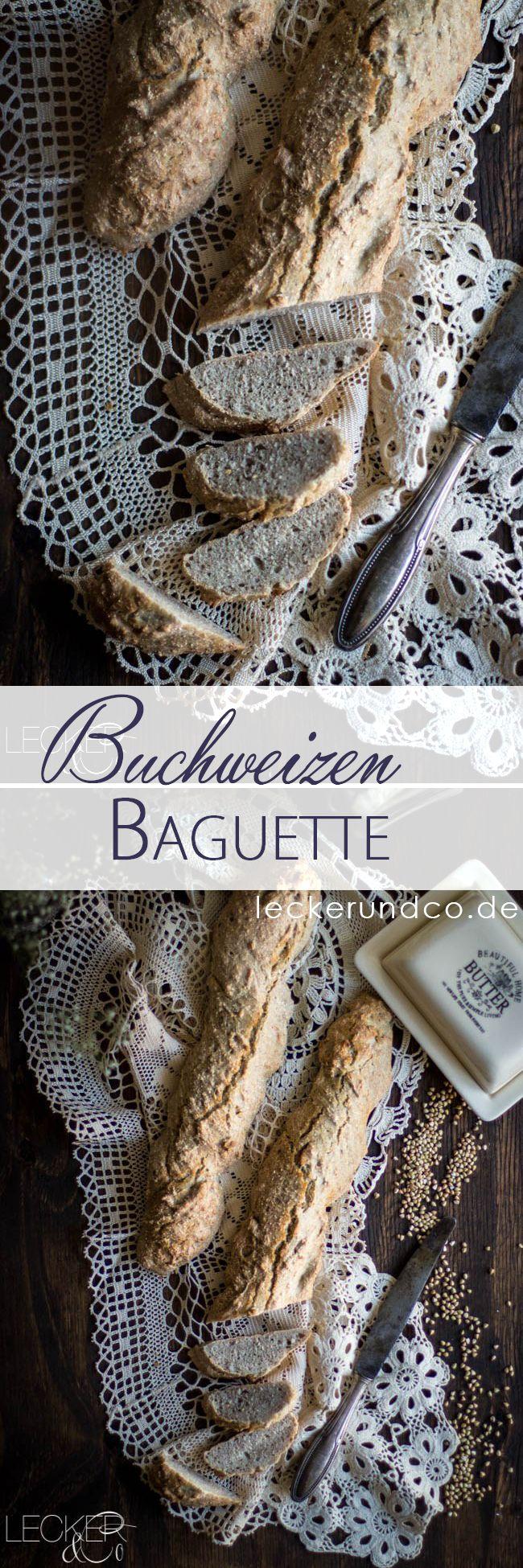 Baguette mit Buchweizen und Dinkelmehl