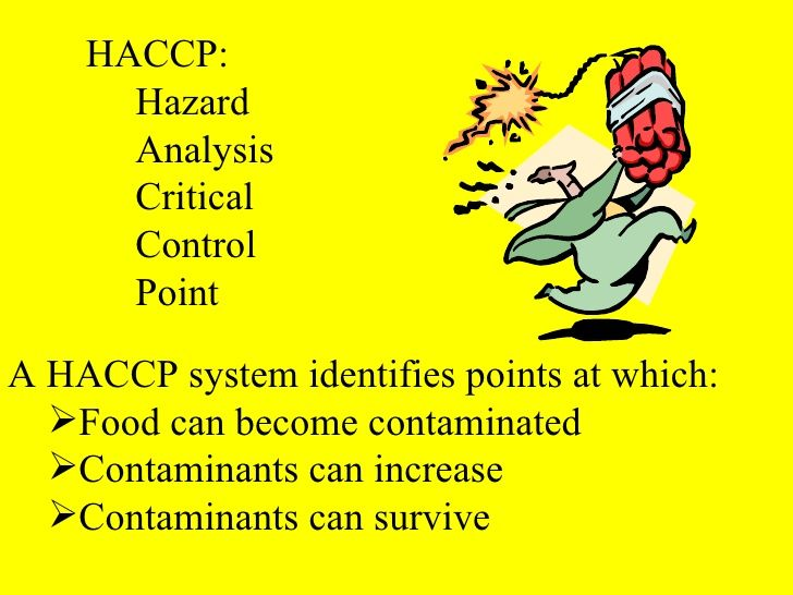 hazard analysis and critical control points for hummus production Hazard analysis of critical control points principles introduction hazard analysis critical control points (haccp) is a system which provides the framework for monitoring the total food.