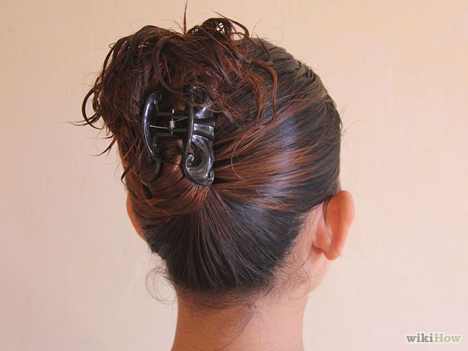 Simple and easy up-do with a claw clip