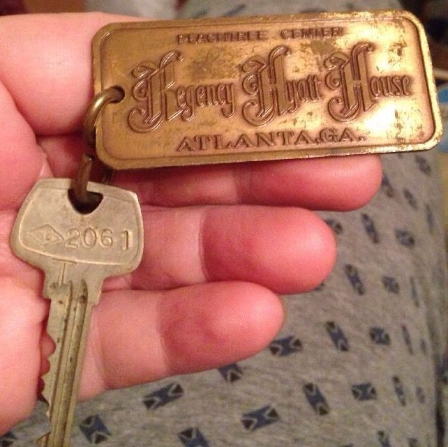 Vintage Regency Hyatt House Atlanta Georgia Hotel Key Fob   | eBay