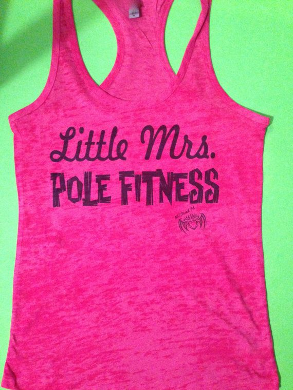 Pole Fitness Tank Top. Little Mrs. Pole Fitness.  by MOZtrendFit, $21.95