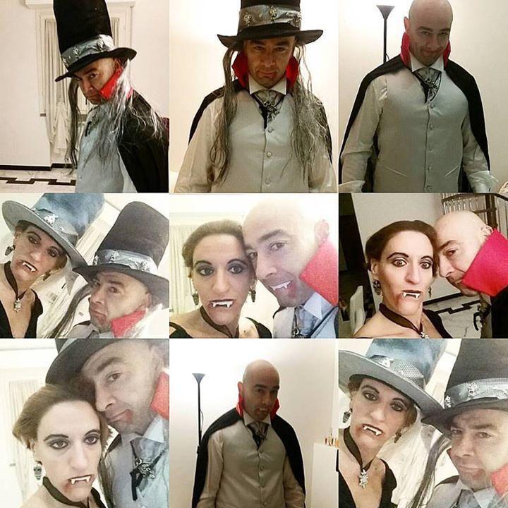 Tagged! Prontissimi!  CONTE DRACULA E SIGNORA.... chi lo avrebbe mai detto che ti saresti travestito!!! #lanottedellestreghe #siamobellissimi #spaventosa #spavento #halloween #halloweenmakeup #festeggiamo #divetente #amici #festeggiamenti #italy #löwengrube #maschere