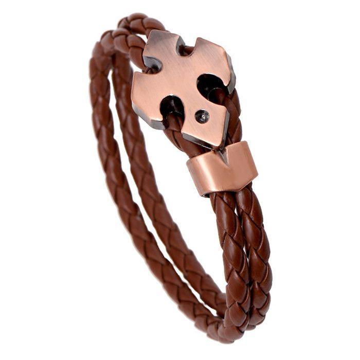 Pulceras pulseiras feminina masculina couro браслеты женские аксессуары cuero хомбре кожа бохо крест браслеты LB139