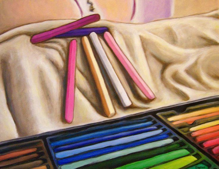 Pastels secs acrylique