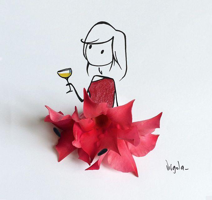 ilustraciones con flores bonitas y delicadas. LAS ILUSTRACIONES DE VIRGOLA
