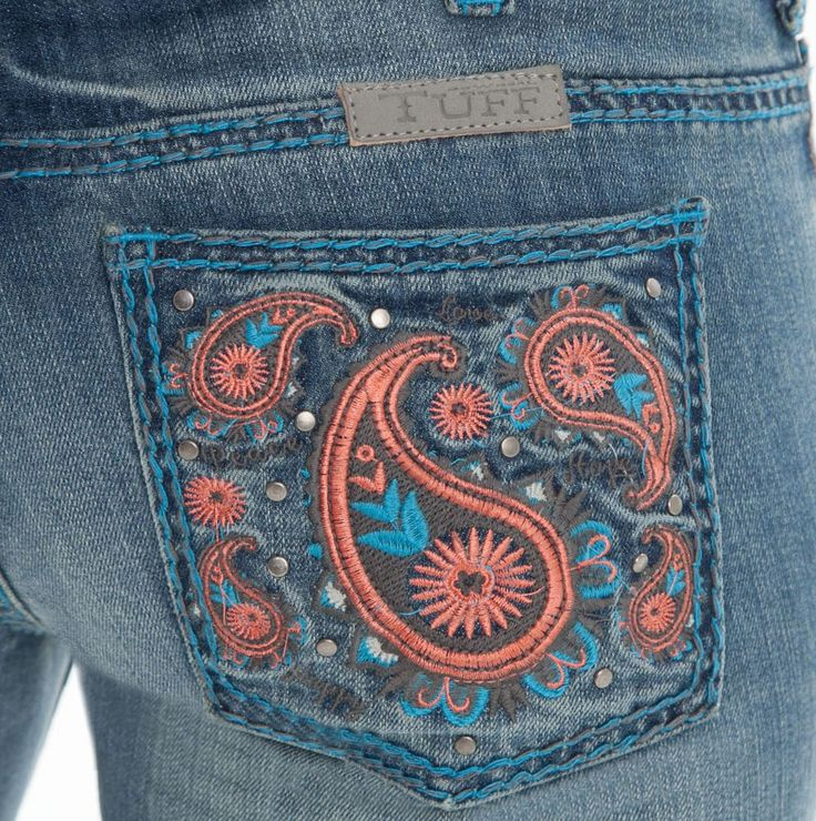 BunkhouseWestern | Cowgirl Tuff Wild Paisley Jeans