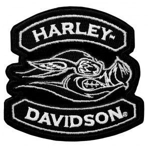 Embroidered Hog Harley Davidson Animal Instincts Patch