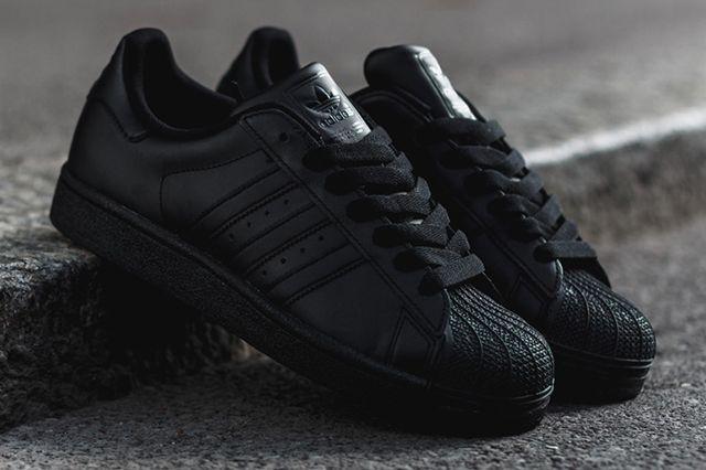 adidas superstar 2 all black