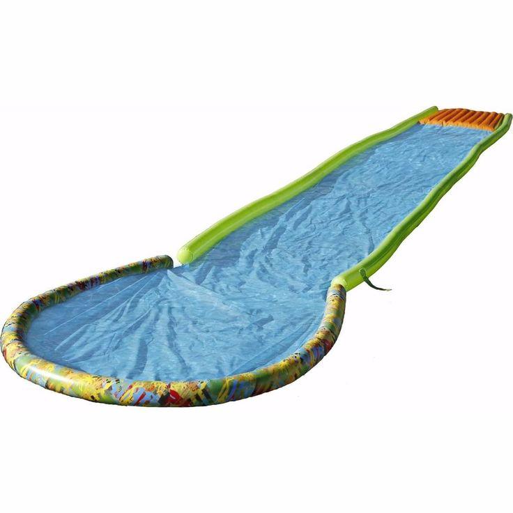 Giant Inflatable Water Slide 30 Splash Pool Launch Pad Misting Sidewalls Durable #Slackers