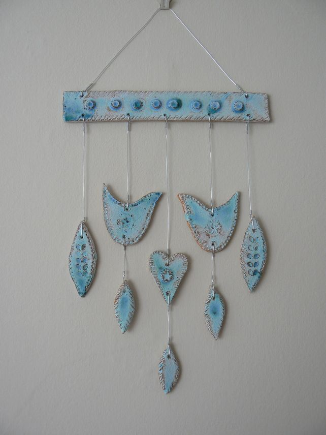 Birds and Leaves Ceramic Wall Hanging £25.00