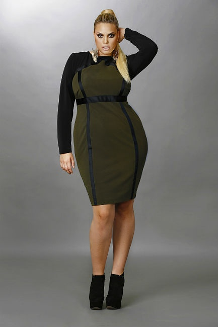 Size Olive Green Dress