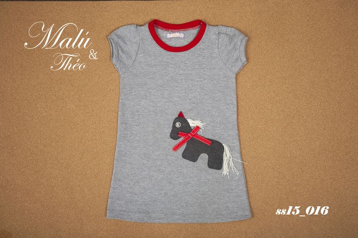 Pique dress with handmade details - Italian Style for kids
