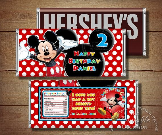 ANY AGE Printable Mickey Mouse Birthday by ThePrintableOccasion, $3.50