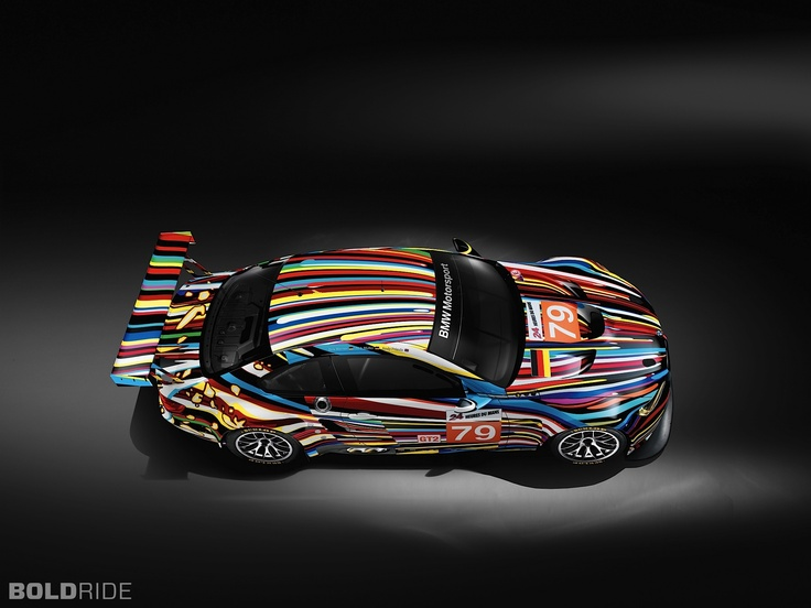 2010 BMW M3 GT2 Jeff Koons Art Car