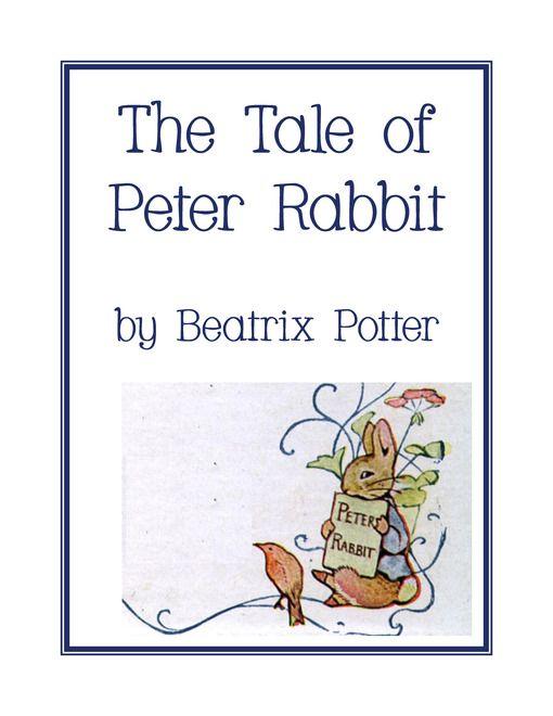 The Tale of Peter Rabbit Unit Study & Lapbook Printables