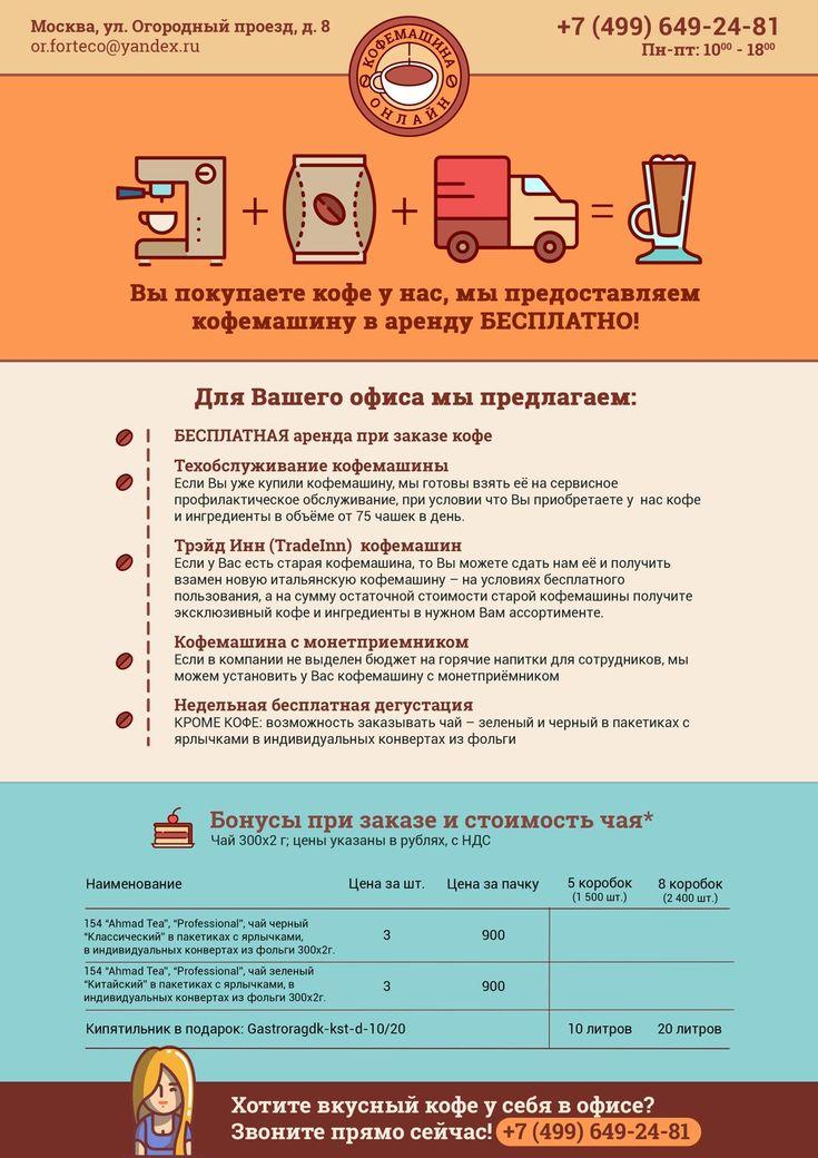 Дизайн листовки для компании Кофемашина Онлайн
