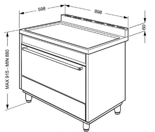 Cocina Dual Smeg C91GMXI