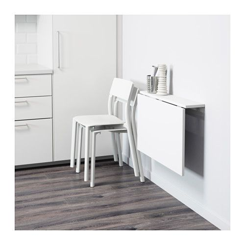 NORBERG Wall Mounted Drop Leaf Table   IKEA   Use Two For A Space