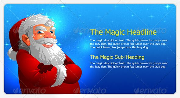 cool santa  #GraphicRiver         this christmas, spread the magic of santa – let him say hello from your webpage header.  	 the main photoshop file uses the magic of psd vector and pattern layer, so the designer can alter colors or styles to suit in any theme.  	 original illustrator file and exported transparent png image of santa is also included along with the layered psd.  	 liked this header graphics? then check this out too  	   	 a complete christmass themed banner pack for seasonal…