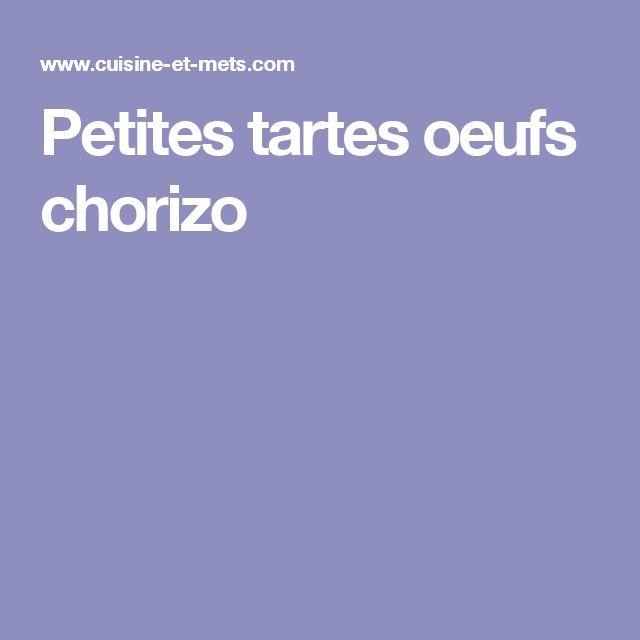 Petites tartes oeufs chorizo