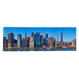 iCanvas Panoramic Lower Manhattan, Manhattan, New York City, New York State, 2011 Photographic Print on Canvas by AllModern