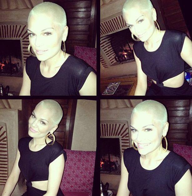 Jessie J short blonde shaved