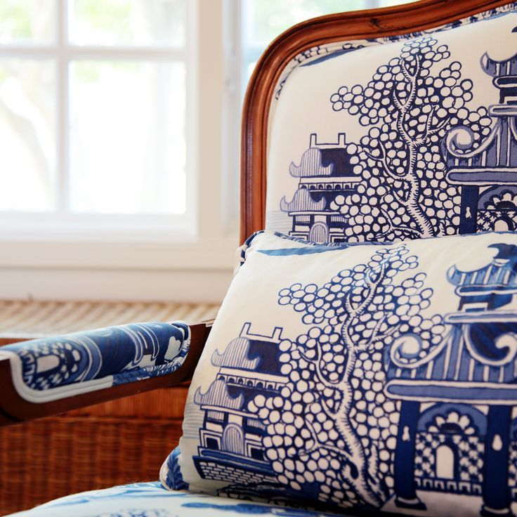 Lee Jofa Blue Willow, awesome fabric!