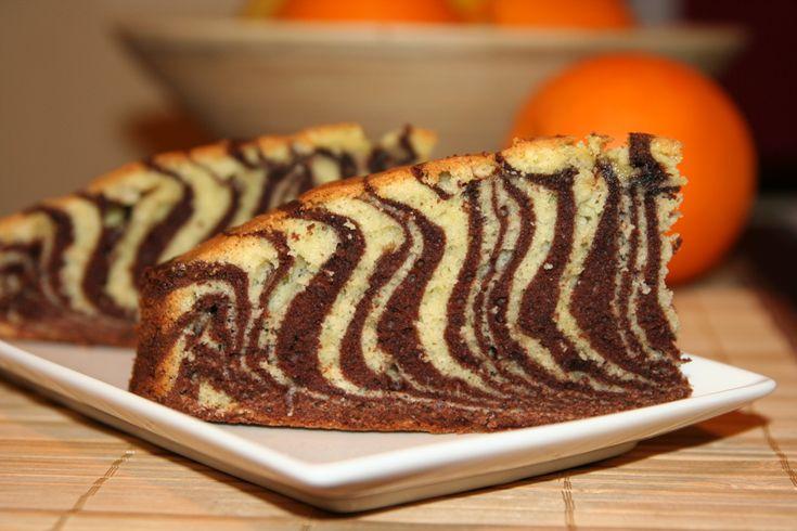 Reteta culinara Chec zebra din categoria Prajituri. Cum sa faci Chec zebra