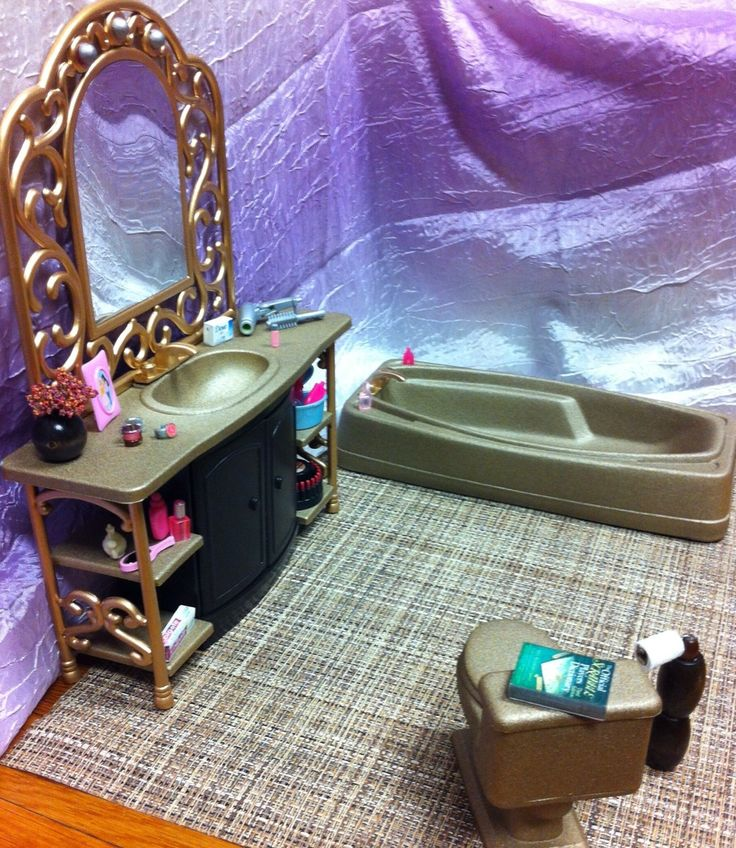 barbie furniture ideas. ooak barbie bathroom 1 6 scale furniture accessories lot house diorama ebay ideas