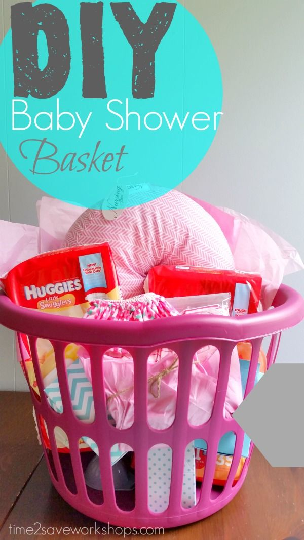 DIY Baby Shower Gift Basket {on A Shoestring