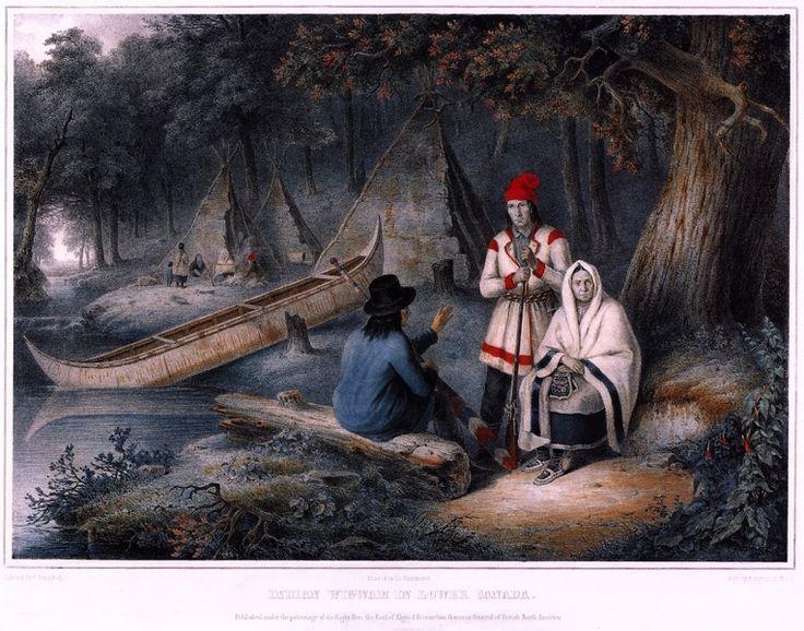 Indian Wigwam in Lower Canada