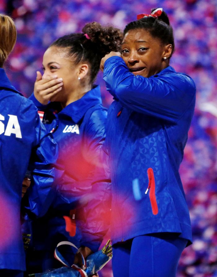 "i-dont-understand-gymnastics: "" ""Laurie Hernandez and Simone Biles after being selected to the US Olympic Team (x) "" """
