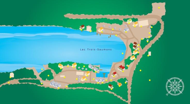 Nos installations autour du lac Trois-Saumons à Saint-Aubert.