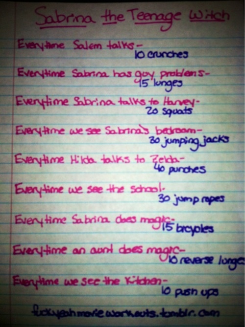 Movie workouts - Sabrina the teenage witch guess I need to start doing this now that ive found it and im in season 4