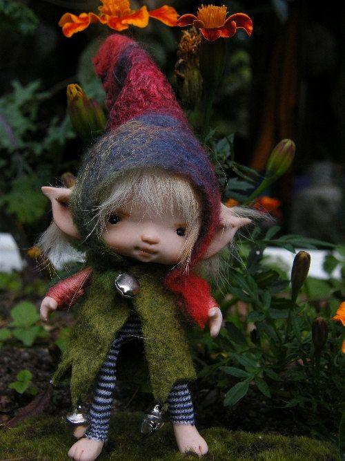 sweet tiny posable ooak fairy fairie elf. $98.00, via Etsy.