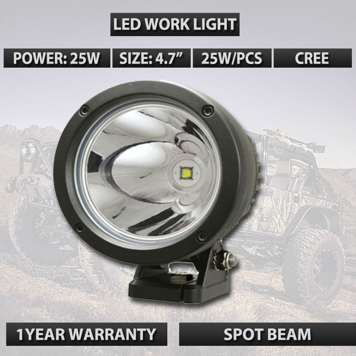 95 Similar With Gdcreestar 4 5 Led Light Cannon 25 Watt 10 Degree Spot Beam Used For Truck Car Suv Atv 12v 24v External Lamps Led Work Light Car Car Lights
