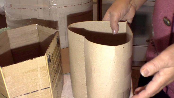 Изготовление картонной формы для плетения из газет  Часть 2