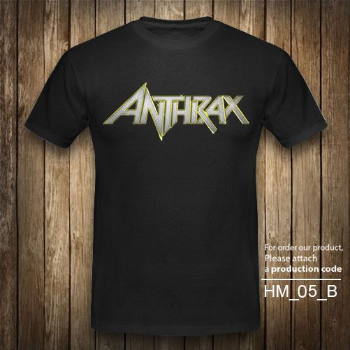 ANTHRAX LOGO Heavy Metal Rock Band T-shirt Vintage Retro Black Graphic XS-2XL #Unbranded #GraphicTee