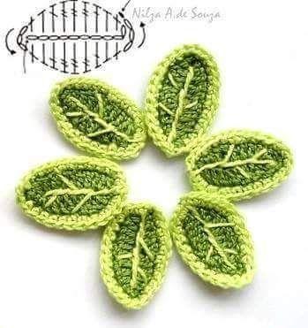 leaves Schemes crochet 2