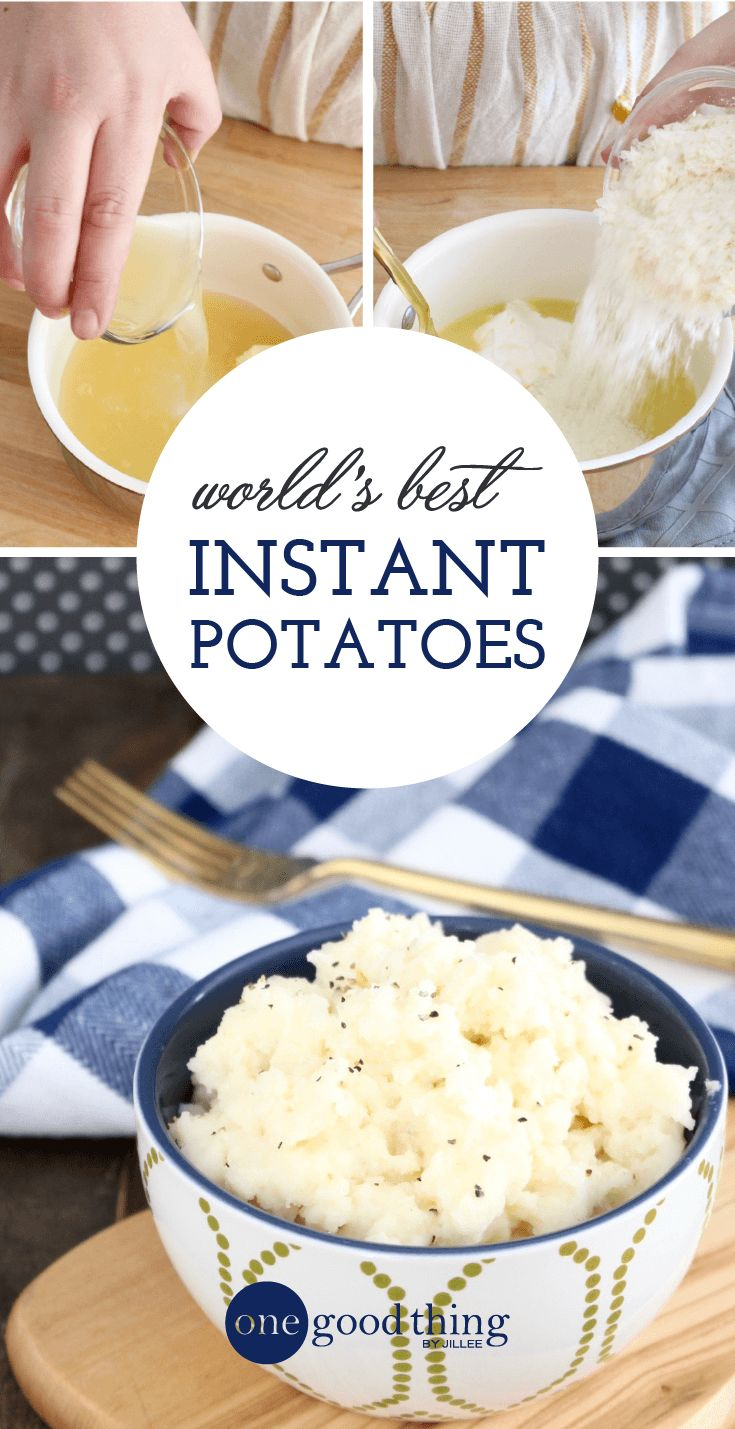 Why put all that time and effort into making homemade mashed potatoes, when you can make instant mashed potatoes that taste just as good? A must-try recipe!