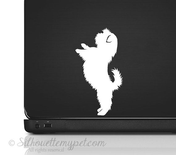 Shih Tzu Silhouette Vinyl Sticker Decal  Good by silhouetteMYpet