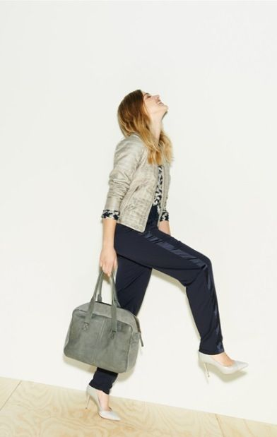 August 2015 Sandwich collection Key pieces for the season include the soft neutral metallic motto jacket, a soft slouch pant in navy and printed light textured tops. Look smart and never contrived in Sandwich, fashion with a twist.
