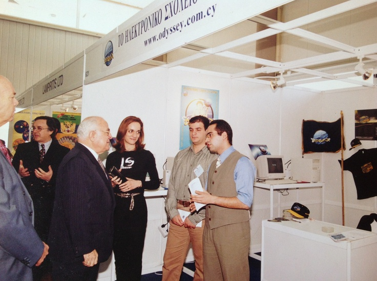 Sotiris Makrygiannis presenting the odyssey.com.cy, one of the first online education tool in 1997
